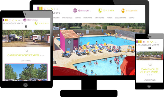 Création site responsive camping Perpignan 66