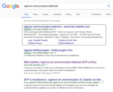 Publicité en ligne Google Adwords Proffessionnels Bâtiment Perpignan 66