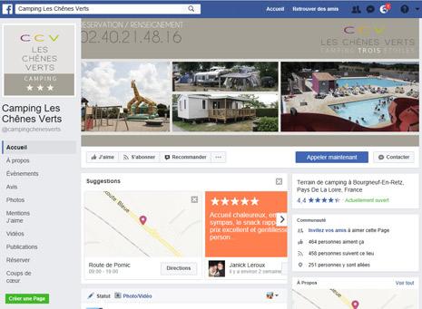 Référencement Social Facebook Camping Perpignan 66