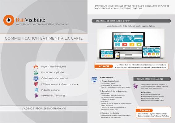 Création de supports imprimés Professionnels du Bâtiment Cap Visibilité Perpignan